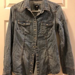 H&M Chambray Top